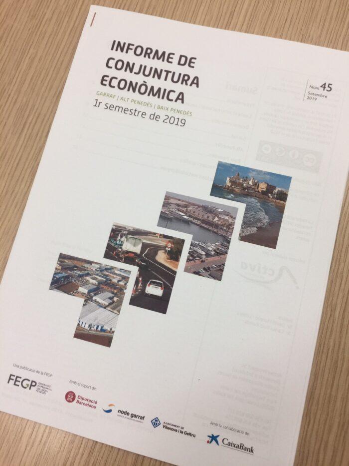 Disponible L'Informe De Conjuntura Econòmica Del 1r Semestre Del 2019 Per A Les Comarques Del Gran Penedès